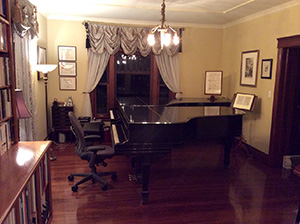 Two Steinway grand pianos
